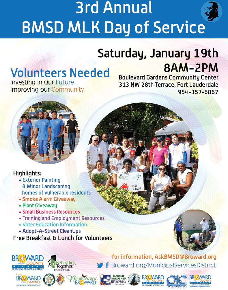 3rd Annual BMSD MLK Day of Service